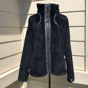 Kuhl Black Zip Up Fleece Flight Jacket Hooded